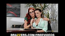 dominant redhead lesbian convinces her co worker to experiment