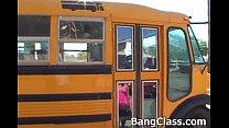 girl teen fucking driver bus School