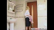surprise bathroom teen Tight