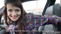 Skinny teen Aimee Ryan fucked in the car and cu...