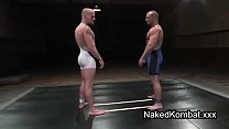 Muscle bare gays wrestling on mats