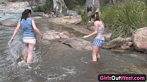 girls out west   aussie lesbian river sex
