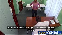 gorgeous blonde victoria gets rammed by the doctors dick