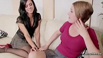 mom helps young step daughter before first time fuck