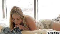 Cute Blonde Teen Helps Him Have A Good Morning)