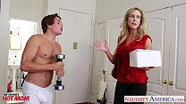 busty blonde mom brandi addiction humping