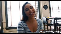My Step Sister Jerking Me Off With Both Hands - SisLovesMeHD.com thumbnail