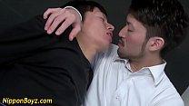 Japanese dude sucks cock