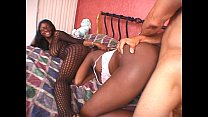 two black chicks in ffm threesome