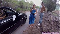 cock fat big a sucks and road public a on fucked glam Jenny