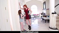 exxxtrasmall   teeny teen fucked with strap on by tall busty lauren phillips