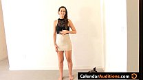Horny Brunette Experimenting At Surprise Sex Ca...