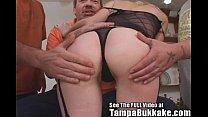 Tampa Slut Wife's Ass Banging Bukkake Party