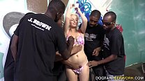 Jenna Ivory Serves A Gang Of Black Men With Her Mouth And Pussy