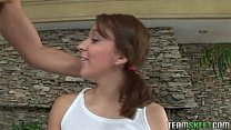 cock deepthroats forcibly chavez chanel Brunette