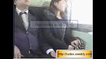 Hot asian girl is being groped while riding on ...