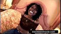 African american teen taking big cock in her