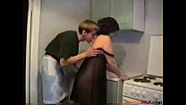 kitchen her in fucked Mom