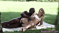 Assfucked teen babe enjoys interracial sex