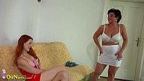 teen redhead lesbian and lady bbw busty Oldnanny