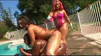 Pinky, Chyanne jacobs and Skyy black Gets Oiled Up
