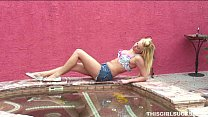 pool the by cock sucks blonde Sexy