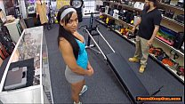 Fit black MILF agrees to workout naked