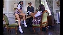office in 3some ffm thi trinh coralie & lancaume karen Schoolgirls