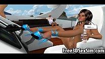 boat a on fucked gets hottie cartoon 3d Sexy