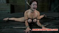 bdsm   suspension bonded and wide spread legs ass and cunt tortured