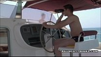 Two Naughty Twinks Gets Boat Ride Fucking
