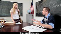 innocenthigh   blonde schoolgirl fucked hard by her prof