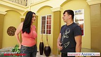 Busty brunette Sophie Dee suck and fuck cock porn videos