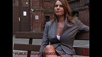 Tied up nusty babe anal fucked outdoor
