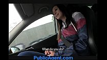 publicagent natalie has huge boobs and is fucked on the backseat