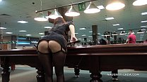 Public flash upskirt in the billiard club