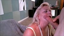blonde milfy getting a mouthful of sexy and tast…