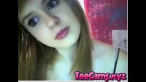 Cute teen plays with her pussy for me on Omegle - teecams.xyz