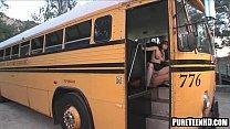 Foxy teenage honey getting fucked hard on the bus