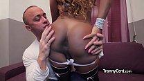 cock big swallowing tranny Ebony