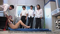 tai phim sex -xem phim sex Cute Asian teacher waxed and creamed in a group