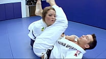 af... trainer her with fucks students karate Horny