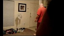 wife flashing delivery pizza boy (husband open ...