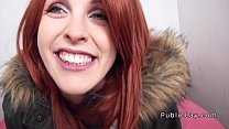 Spanish redhead babe from public banged pov