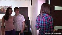 Young Sex Parties - Three-way tube8 gangbang xv...