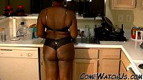 !! kitchen in sex hot make couple African