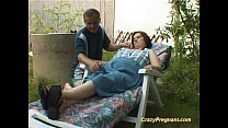 massaged body naked her has lady Pregnant