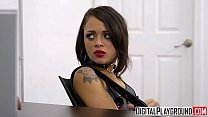 tiny teen holly hendrix gets punished by cop digitalplayground