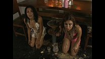 Two Girls Forced Vomit Puke Puking Vomiting Gag...