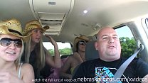 flashing and getting naked while driving on a r...